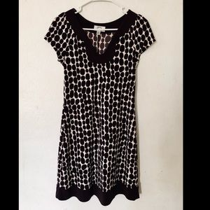 Sweet storm casual brown and pink dress. Large